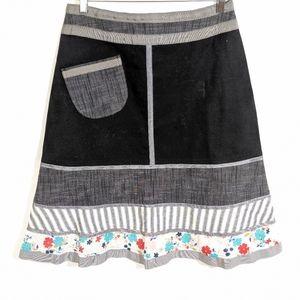 Neesh by D.A.R. Mixed Fabric Skirt